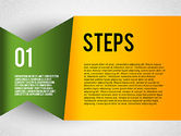 Stage Diagrams: Colorful Agenda Steps #02369