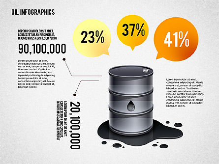 Presentation Templates: Oil Infographics Presentation Template #02376