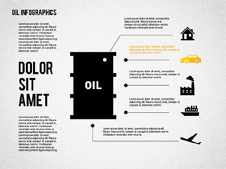 Oil Infographics Presentation Template, Slide 2, 02376, Presentation Templates — PoweredTemplate.com