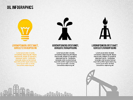 Oil Infographics Presentation Template, Slide 3, 02376, Presentation Templates — PoweredTemplate.com