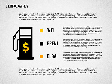 Oil Infographics Presentation Template, Slide 4, 02376, Presentation Templates — PoweredTemplate.com