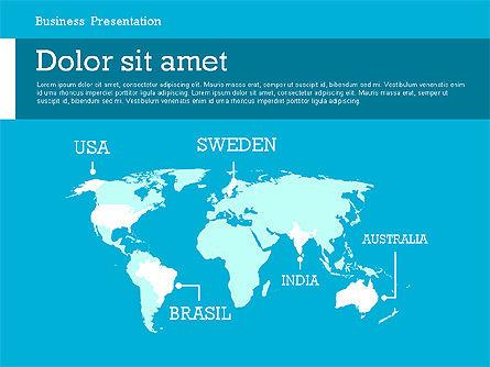 Business Report Modern Presentation Template (data driven), Slide 2, 02378, Presentation Templates — PoweredTemplate.com