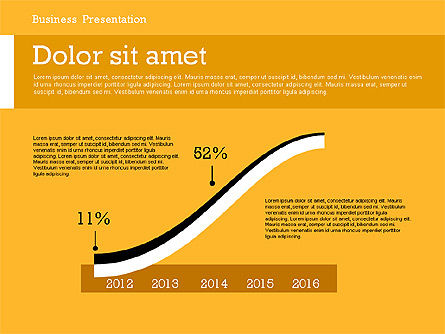 Business Report Modern Presentation Template (data driven), Slide 3, 02378, Presentation Templates — PoweredTemplate.com
