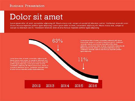 Business Report Modern Presentation Template (data driven), Slide 4, 02378, Presentation Templates — PoweredTemplate.com