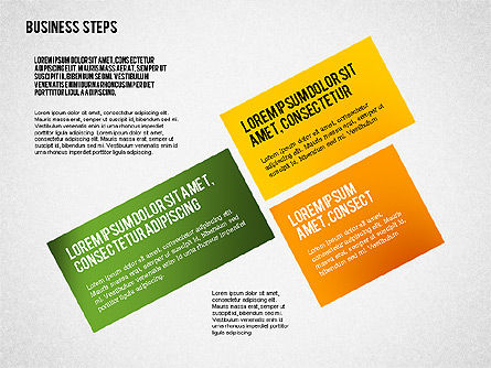 Colored Business Steps Diagram, Slide 6, 02379, Stage Diagrams — PoweredTemplate.com