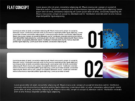 Presentation Template in Flat Design Concept, Slide 10, 02380, Presentation Templates — PoweredTemplate.com