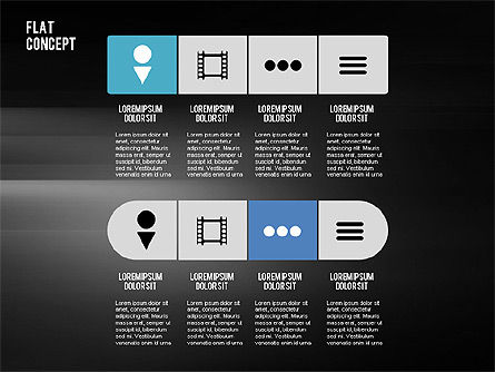 Presentation Template in Flat Design Concept, Slide 11, 02380, Presentation Templates — PoweredTemplate.com