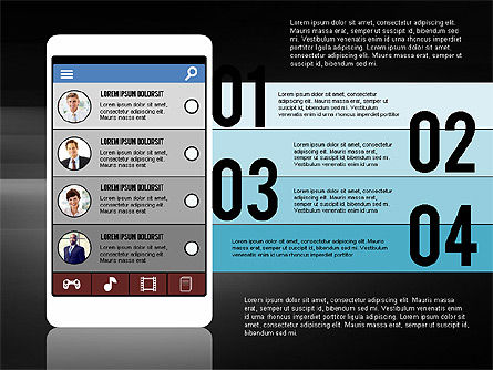 Presentation Template in Flat Design Concept, Slide 13, 02380, Presentation Templates — PoweredTemplate.com