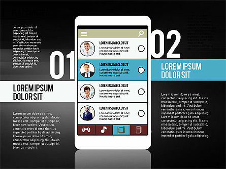 Presentation Template in Flat Design Concept, Slide 9, 02380, Presentation Templates — PoweredTemplate.com