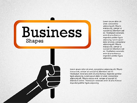 Presentation Template with Business Shapes, 02383, Presentation Templates — PoweredTemplate.com