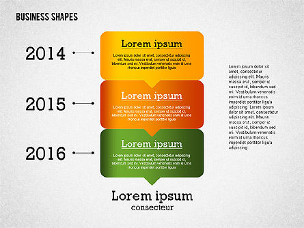 Presentation Template with Business Shapes, Slide 3, 02383, Presentation Templates — PoweredTemplate.com