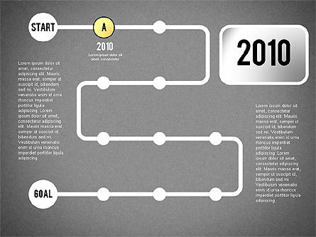 Reaching Goal Process Presentation, Slide 11, 02384, Process Diagrams — PoweredTemplate.com