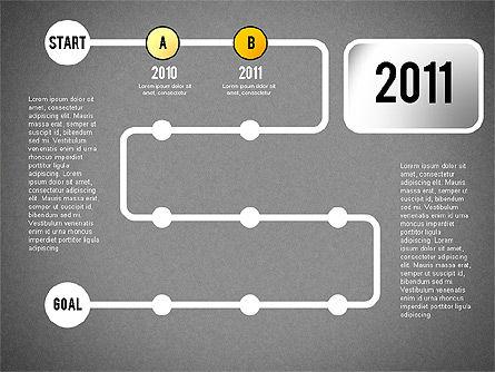 Reaching Goal Process Presentation, Slide 12, 02384, Process Diagrams — PoweredTemplate.com