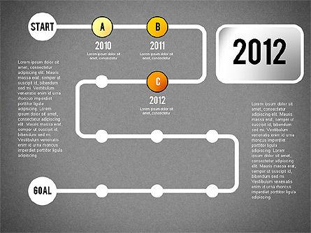 Reaching Goal Process Presentation, Slide 13, 02384, Process Diagrams — PoweredTemplate.com