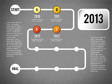 Reaching Goal Process Presentation, Slide 14, 02384, Process Diagrams — PoweredTemplate.com