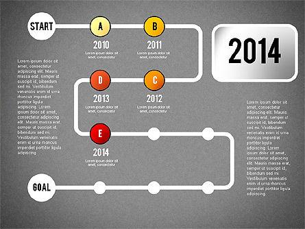 Reaching Goal Process Presentation, Slide 15, 02384, Process Diagrams — PoweredTemplate.com
