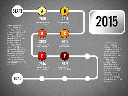 Reaching Goal Process Presentation, Slide 16, 02384, Process Diagrams — PoweredTemplate.com