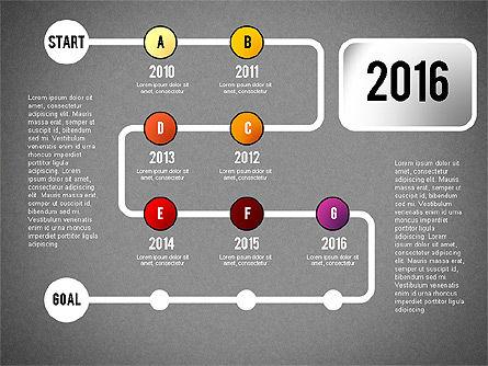 Reaching Goal Process Presentation, Slide 17, 02384, Process Diagrams — PoweredTemplate.com