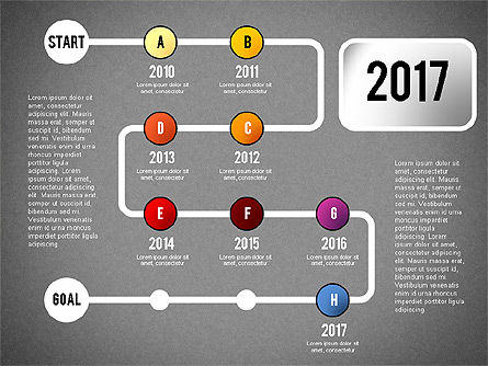 Reaching Goal Process Presentation, Slide 18, 02384, Process Diagrams — PoweredTemplate.com