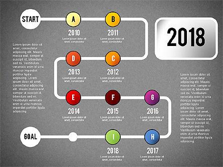 Reaching Goal Process Presentation, Slide 19, 02384, Process Diagrams — PoweredTemplate.com