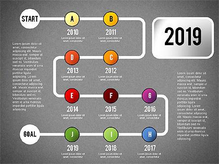 Reaching Goal Process Presentation, Slide 20, 02384, Process Diagrams — PoweredTemplate.com