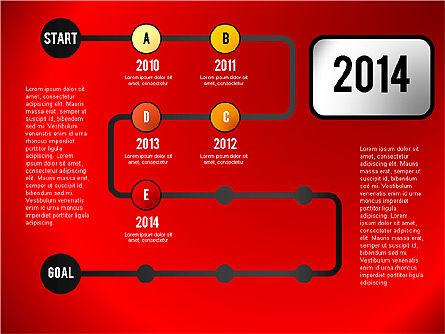 Reaching Goal Process Presentation, Slide 5, 02384, Process Diagrams — PoweredTemplate.com
