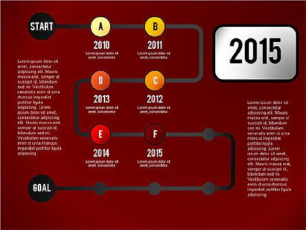 Reaching Goal Process Presentation, Slide 6, 02384, Process Diagrams — PoweredTemplate.com