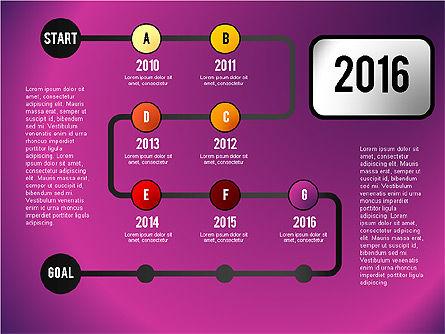 Reaching Goal Process Presentation, Slide 7, 02384, Process Diagrams — PoweredTemplate.com