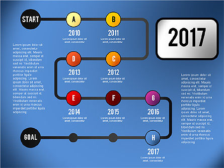 Reaching Goal Process Presentation, Slide 8, 02384, Process Diagrams — PoweredTemplate.com