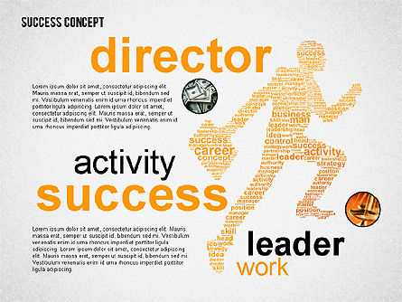 Presentation Templates: Success Concept Word Cloud #02385
