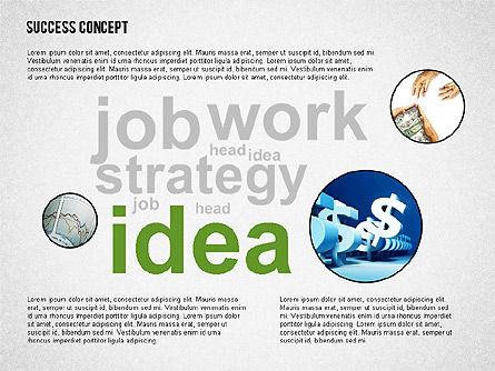 Success Concept Word Cloud, Slide 4, 02385, Presentation Templates — PoweredTemplate.com
