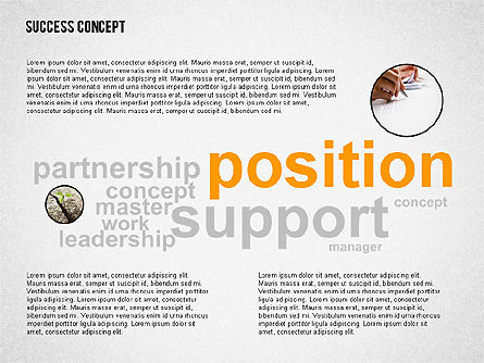 Success Concept Word Cloud, Slide 6, 02385, Presentation Templates — PoweredTemplate.com