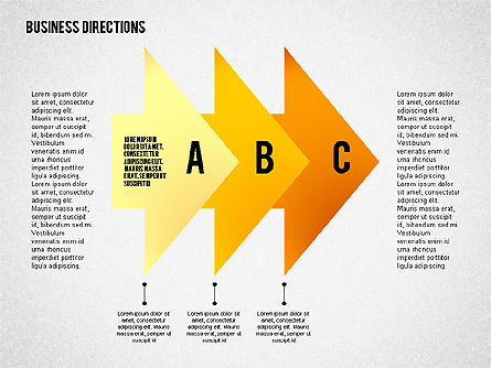 Process Diagrams: Colored Arrows Toolbox #02387