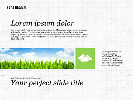 Environmental Presentation in Flat Design, 02390, Presentation Templates — PoweredTemplate.com