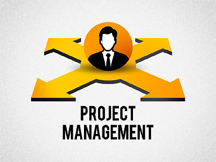 Project Management Process, 02391, Process Diagrams — PoweredTemplate.com