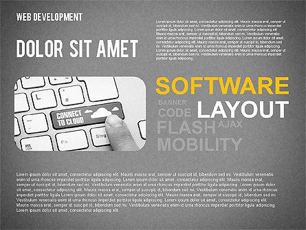 Web Development Word Cloud, Slide 10, 02393, Presentation Templates — PoweredTemplate.com
