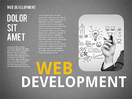 Web Development Word Cloud, Slide 11, 02393, Presentation Templates — PoweredTemplate.com