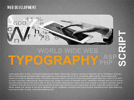 Web Development Word Cloud, Slide 13, 02393, Presentation Templates — PoweredTemplate.com