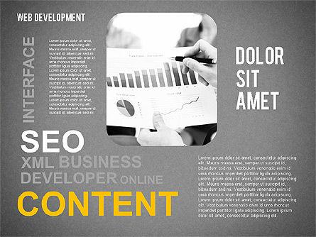 Web Development Word Cloud, Slide 14, 02393, Presentation Templates — PoweredTemplate.com