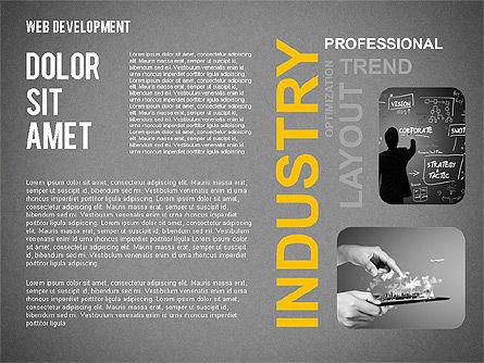 Web Development Word Cloud, Slide 15, 02393, Presentation Templates — PoweredTemplate.com