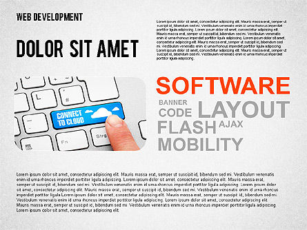 Web Development Word Cloud, Slide 2, 02393, Presentation Templates — PoweredTemplate.com