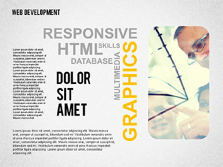 Web Development Word Cloud, Slide 4, 02393, Presentation Templates — PoweredTemplate.com