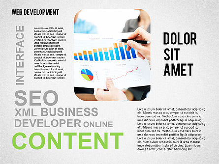 Web Development Word Cloud, Slide 6, 02393, Presentation Templates — PoweredTemplate.com