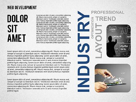 Web Development Word Cloud, Slide 7, 02393, Presentation Templates — PoweredTemplate.com
