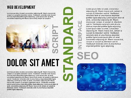 Web Development Word Cloud, Slide 8, 02393, Presentation Templates — PoweredTemplate.com