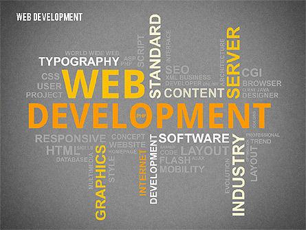 Web Development Word Cloud, Slide 9, 02393, Presentation Templates — PoweredTemplate.com