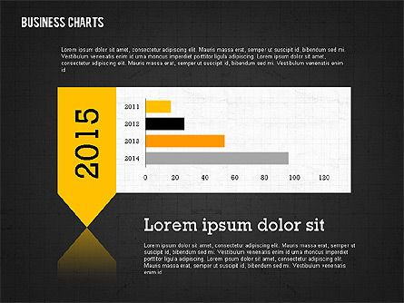 Presentation Template with Data Driven Charts, Slide 10, 02398, Presentation Templates — PoweredTemplate.com