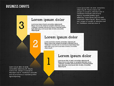 Presentation Template with Data Driven Charts, Slide 14, 02398, Presentation Templates — PoweredTemplate.com