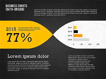 Presentation Template with Data Driven Charts, Slide 16, 02398, Presentation Templates — PoweredTemplate.com