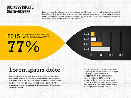 Presentation Template with Data Driven Charts, Slide 8, 02398, Presentation Templates — PoweredTemplate.com